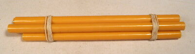 Beautiful rare lot of galalith yellow marbled 5 rods 124 grams