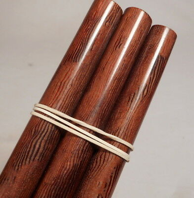 Beautiful rare lot of galalith brown marbled 5 rods 147 grams