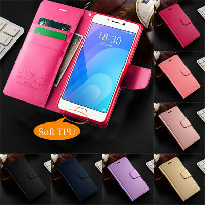 For Meizu M3/M3S/M5/M6 Note Case Business PU Leather Flip Wallet Magnetic Cover