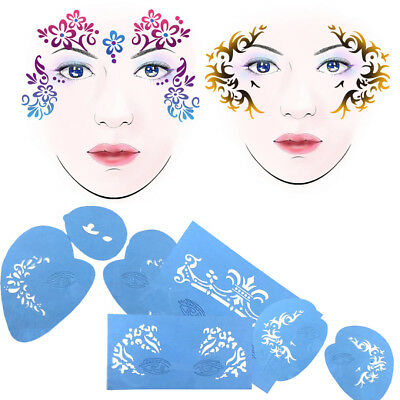 1 Set Beauty Template Body Art Stencil Reusable Face Painting For Party Festival