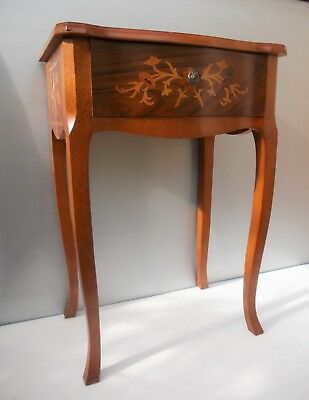 Table Louis XV style marquetry chevet console or other