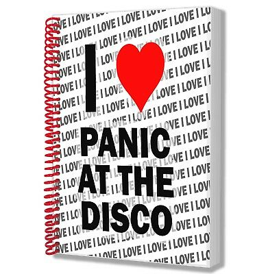 I Love Panic At The Disco - A5 Notebook Pad Diary Drawings Birthday Christmas