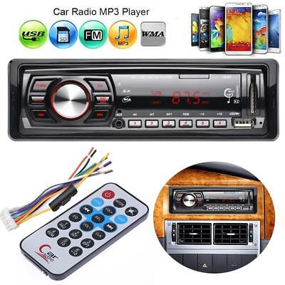 12V Coche Radio Audio Stereo Aux USB FM Receiver MP3 Reproductor Remote Control