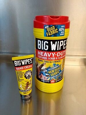 Big Wipes Bundle 80 Heavy Duty Wipes + Hand Cream