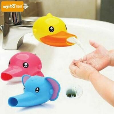 Happy Fun Animals Faucet Extender Baby Tubs Kids Hand Washing Bathroom Sink