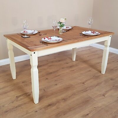 "Corona Cream 5'0"" Dining Table Painted by Mercers Furniture®"