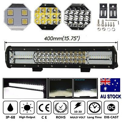 16inch CREE LED Work Light Bar Spot Flood OffRoad Fog Driving 4WD 4x4 Reverse AU