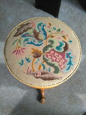 Victorian Tapestry Adjustable Revolving Piano Stool