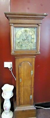 Handmade brass face grandfather clock dated 1767