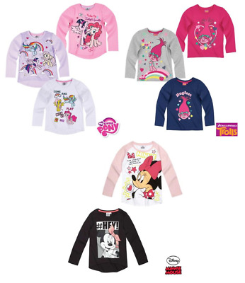Girls Character Tshirt, Tshirts Fully Licensed Minnie Mouse Trolls Little Pony