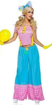 NWT $55-Disguise Adult Womens Floppy The Clown Halloween Costume-size S, M & L