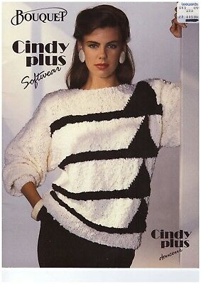 Vintage Bouquet Knitting Booklet Cindy plus softwear    CUTE