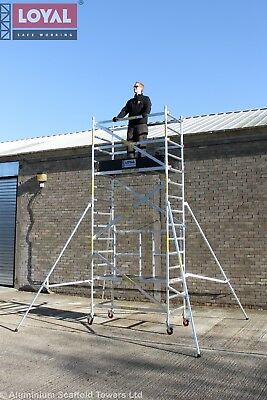 eTrade King ONE Up to 7M Aluminium Scaffold Tower, 1m Frames, One man Tower