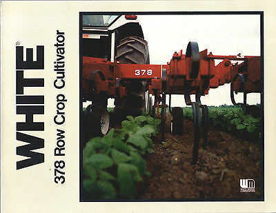1980 White Oliver Tractor 378 Row Crop Cultivator Brochure