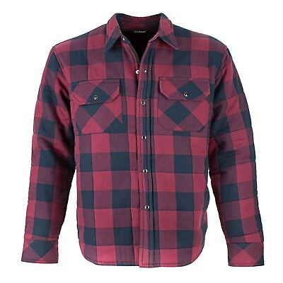 Resurgence Gear motorcycle Check Riding Shirt - Mens in Red/ Black