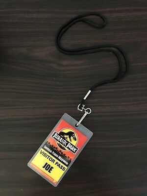 Vintage Universal Studios Hollywood Jurassic Park Joe Visitor Pass Lanyard Badge