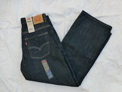 Nwt Boys Levis 550 Relaxed Jeans Adjustable Waist 91H550-679 Black Rinse