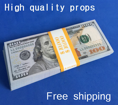 Single-sided printing $10000 Copy Prop Money Fake Replica Play game prop