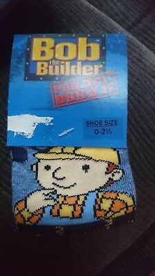 Gorgeous Bob The Builder Boys Socks, 0-2.5, 2 Pairs *Brand New*