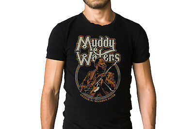Muddy Waters McKinley Morganfield Father of Chicago Blues Music Tee Shirt MW01