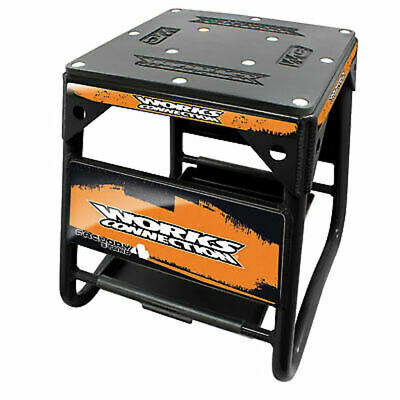 Works Connection Factory 4 Stand Black w/Orange Decals-Motorcycle-KTM