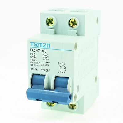 AC 400V 6 A 2 pôles 2P protection contre les surcharges MCB mini circuit breaker