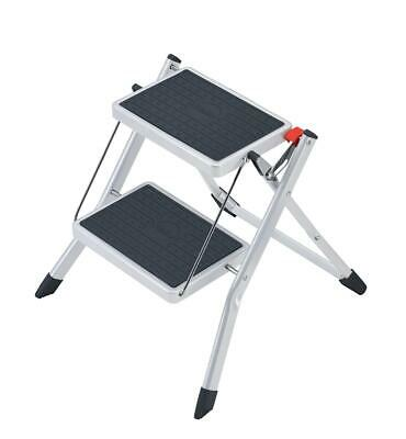 5 Star Facilities Mini Stool/Ladder Two Step Steel Folding Single Sided Load Cap