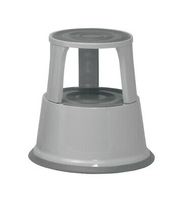 5 Star Facilities Step Stool Mobile Spring-loaded Castors Max 150kg Top D290xH43