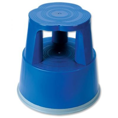 5 Star Facilities Mobile Lightweight Plastic Step Stool (Blue)