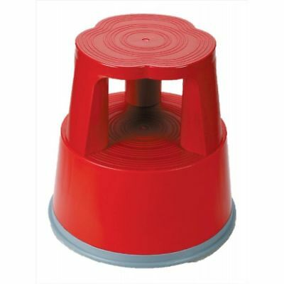 5 Star Facilities Mobile Lightweight Plastic Step Stool (Red)