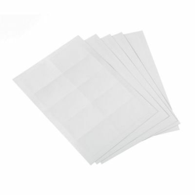5 Star Office (54 x 90mm) Office Badges Inserts (20 Sheets of 10 Badge Inserts)