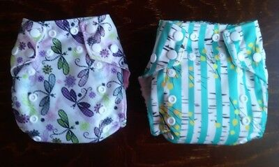 Cloth Diapers, SAHM, One-Size Pocket Diaper, Front Envelope, Snaps, With Inserts