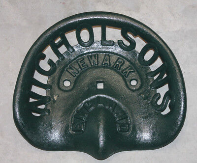 Antique Style Heavy Cast Iron Nicholsons Tractor Implement Seat Farm Barn
