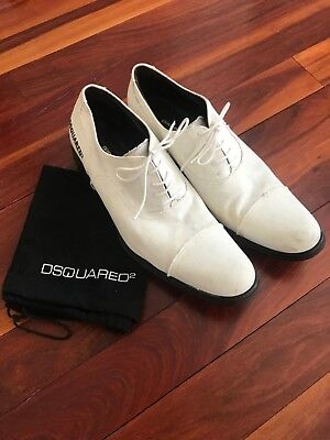 DSQUARED2 white shoes size 9.5 UK (44 EU) - DSQUARED