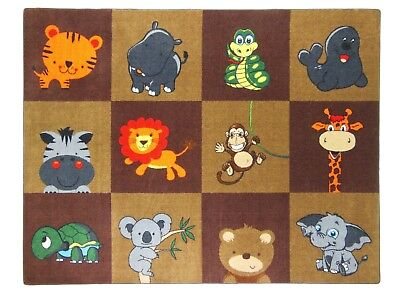 6'6'' x 8'4'' MY ZOO BABY EARTH Educational Rug For Schools -Day Care -Kids Roo
