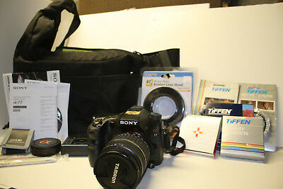 Sony Alpha SLT-A77 24.3MP Digital SLR w/ Tamron 18-200mm. 1265 SHUTTER COUNT.
