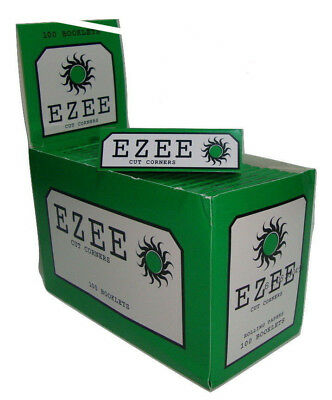 20x Ezee Green Cigarette Smoking Standard Regular Rolling Papers Made By Rizla**