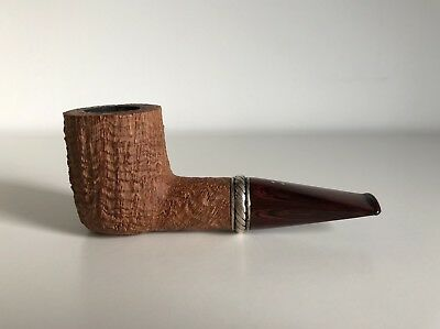 """Superb RADICE """"Silk Cut Pure"""" Nose Warmer pipe with rotating silver band RARE!!!"""