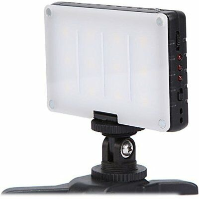 On Camera LED Video Light Panel Dimmable Bi Color DSLR Cold Shoe Mount Battery