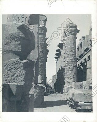 1935 Egypt Luxor Temple Hypostyle Hall At Karnak Press Photo