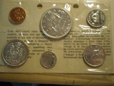 1966 Canada 6 Coin Proof Like Set in Original Mint Issue Packaging with COA