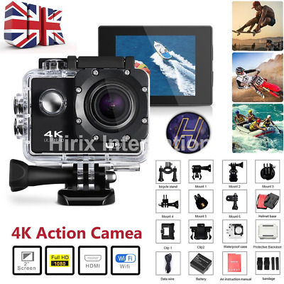 Ultra 4K Full HD 1080P Wifi Waterproof DVR Sports Action Camera DV Go Pro Cam