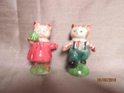 Vintage Kitten Salt& Pepper Japan