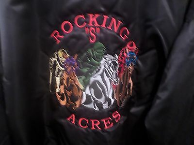"ROCKING ""S"" ACRES Collectible Customized Jacket GAME SPORTSWEAR, Ltd. RN 81864"