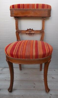 Chair Napoleon III so-called Voyeur or Ponteuse walnut solid