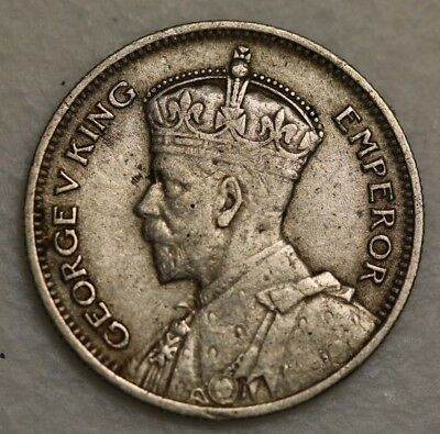 1932 Six Pence Southern Rhodesia Zimbabwe George V Silver Coin Scarce