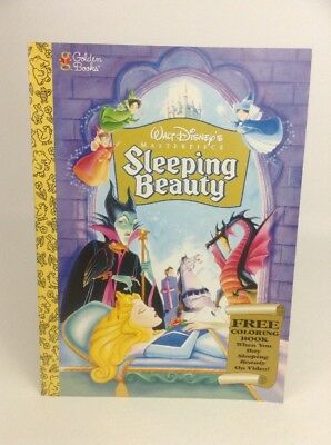Sleeping Beauty Coloring Book Vintage 1997 Disney Masterpiece Golden Book