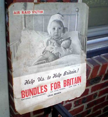 Org Ww2 Poster-Bundles For Britian-Help Up To Help Britian-Nyc