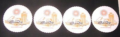 8 Sands Hotel Las Vegas Paper Coasters Hughes Resort 8 New out of Box Never Used