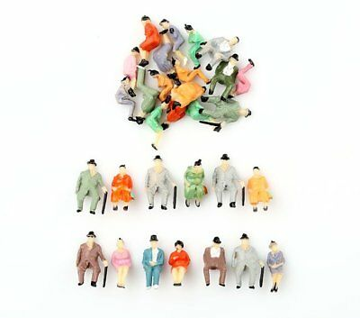 30Pcs 1:87 HO Scale ALL Seated Painted People Sitting Figures Scenery Passenger